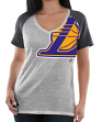 "Los Angeles Lakers Women's Majestic NBA ""Stylin"" V-neck Short Sleeve Tee"