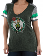 "Boston Celtics Women's Majestic NBA ""All My Hearts"" V-neck Fashion Top"
