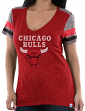 "Chicago Bulls Women's Majestic NBA ""All My Hearts"" V-neck Fashion Top"