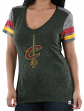 "Cleveland Cavaliers Women's Majestic NBA ""All My Hearts"" V-neck Fashion Top"