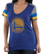 "Golden State Warriors Women's Majestic NBA ""All My Hearts"" V-neck Fashion Top"