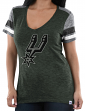 "San Antonio Spurs Women's Majestic NBA ""All My Hearts"" V-neck Fashion Top"