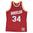 Hakeem Olajuwon Houston Rockets Mitchell & Ness NBA Throwback HWC Jersey - Red