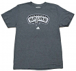 "San Antonio Spurs Adidas NBA ""Full Primary Logo"" T-Shirt - Charcoal"