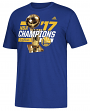 "Golden State Warriors 2017 NBA Champions Adidas ""Big Trophy"" Men's T-Shirt"