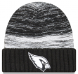 "Arizona Cardinals New Era NFL ""Team Snug"" Black & White Cuffed Knit Hat"