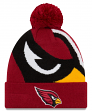 "Arizona Cardinals New Era NFL ""Logo Whiz 3"" Cuffed Knit Hat with Pom"