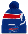 "Buffalo Bills New Era NFL ""Logo Whiz 3"" Cuffed Knit Hat with Pom"