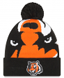 "Cincinnati Bengals New Era NFL ""Logo Whiz 3"" Cuffed Knit Hat with Pom"