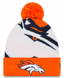 "Denver Broncos New Era NFL ""Logo Whiz 3"" Cuffed Knit Hat with Pom"