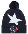"Houston Texans New Era NFL ""Logo Whiz 3"" Cuffed Knit Hat with Pom"