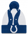 "Indianapolis Colts New Era NFL ""Logo Whiz 3"" Cuffed Knit Hat with Pom"