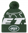 "New York Jets New Era NFL ""Logo Whiz 3"" Cuffed Knit Hat with Pom"