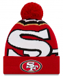 "San Francisco 49ers New Era NFL ""Logo Whiz 3"" Cuffed Knit Hat with Pom"