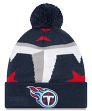 "Tennessee Titans New Era NFL ""Logo Whiz 3"" Cuffed Knit Hat with Pom"
