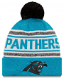 "Carolina Panthers New Era NFL ""Toasty Cover"" Cuffed Knit Hat with Pom"