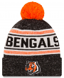 "Cincinnati Bengals New Era NFL ""Toasty Cover"" Cuffed Knit Hat with Pom"