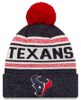 "Houston Texans New Era NFL ""Toasty Cover"" Cuffed Knit Hat with Pom"