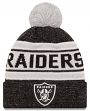 """Oakland Raiders New Era NFL """"Toasty Cover"""" Cuffed Knit Hat with Pom"""