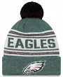 "Philadelphia Eagles New Era NFL ""Toasty Cover"" Cuffed Knit Hat with Pom"