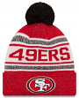 """San Francisco 49ers New Era NFL """"Toasty Cover"""" Cuffed Knit Hat with Pom"""