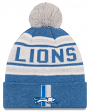 "Detroit Lions New Era NFL ""Toasty Cover Historic"" Cuffed Knit Hat with Pom"