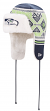"Seattle Seahawks New Era NFL ""Festive Trapper"" Fur Lined Knit Hat"