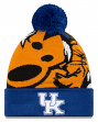 "Kentucky Wildcats New Era NCAA ""Logo Whiz 3"" Cuffed Knit Hat with Pom"