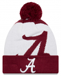 "Alabama Crimson Tide New Era NCAA ""Logo Whiz 3"" Cuffed Knit Hat with Pom"