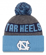 "North Carolina Tarheels New Era NCAA ""Sport Knit"" Cuffed Hat with Pom"