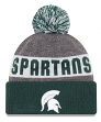 "Michigan State Spartans New Era NCAA ""Sport Knit"" Cuffed Hat with Pom"