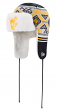 """West Virginia Mountaineers New Era NCAA """"Festive Trapper"""" Fur Lined Knit Hat"""