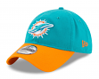 "Miami Dolphins New Era NFL 9Twenty ""Twill Core Classic"" Adjustable Hat"