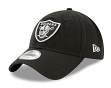 "Oakland Raiders New Era NFL 9Twenty ""Twill Core Classic"" Adjustable Black Hat"