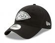 "Kansas City Chiefs New Era NFL 9Twenty ""Twill Core Classic"" Adjustable Black Hat"