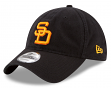 "San Diego Padres New Era 9Twenty MLB Cooperstown ""Black Core Classic"" Hat"