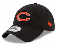 "Chicago Bears New Era 9Twenty NFL ""Black Core Classic"" Adjustable Hat"