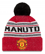 """Manchester United FC New Era """"Toasty Cover"""" Cuffed Knit Hat with Pom"""