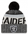 Oakland Raiders New Era 2017 NFL Sideline On Field Sport Knit Hat - Black