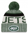 New York Jets New Era 2017 NFL Sideline On Field Sport Knit Hat - Green