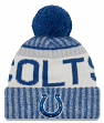 Indianapolis Colts New Era 2017 NFL Sideline On Field Sport Knit Hat - Blue