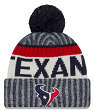 Houston Texans New Era 2017 NFL Sideline On Field Sport Knit Hat - Navy
