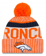 Denver Broncos New Era 2017 NFL Sideline On Field Sport Knit Hat - Orange