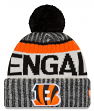 Cincinnati Bengals New Era 2017 NFL Sideline On Field Sport Knit Hat - Black