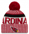 Arizona Cardinals New Era 2017 NFL Sideline On Field Sport Knit Hat - Red