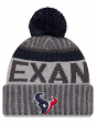"Houston Texans New Era 2017 NFL ""Sport Knit"" Cuffed Hat with Pom - Graphite"