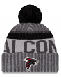 "Atlanta Falcons New Era 2017 NFL ""Sport Knit"" Cuffed Hat with Pom - Graphite"