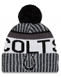 "Indianapolis Colts New Era 2017 NFL ""Sport Knit"" Cuffed Hat with Pom - Black"