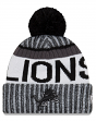"Detroit Lions New Era 2017 NFL ""Sport Knit"" Cuffed Hat with Pom - Black"
