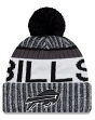 "Buffalo Bills New Era 2017 NFL ""Sport Knit"" Cuffed Hat with Pom - Black"